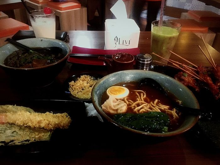 Ramen tiongkok Odette Taste Good Delicious ♡ Food Table Indoors  Freshness Ready-to-eat Serving Size Refreshment