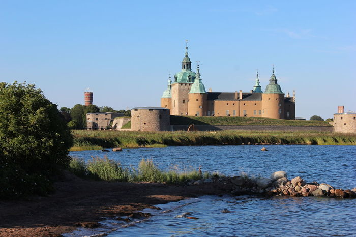 Architecture Beauty In Nature Blue Built Structure Castle Day Grass Hill Kalmar Kalmarsommar Nature No People Outdoors Plant Rippled Scenics Schweden Sky Sweden Tranquil Scene Tranquility Travel Destinations Water