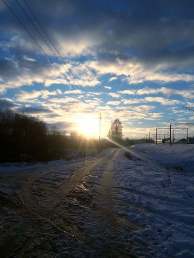 Sunset Cloud - Sky Winter No People Nature Snow Extreme Weather Day Beauty In Nature Cold Temperature Sky