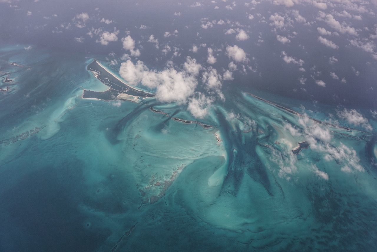 Aerial View Of Exuma In Sea