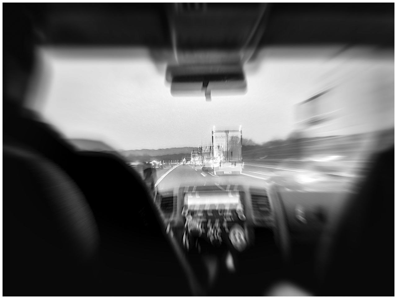 Blurred Motion Of Car Interior
