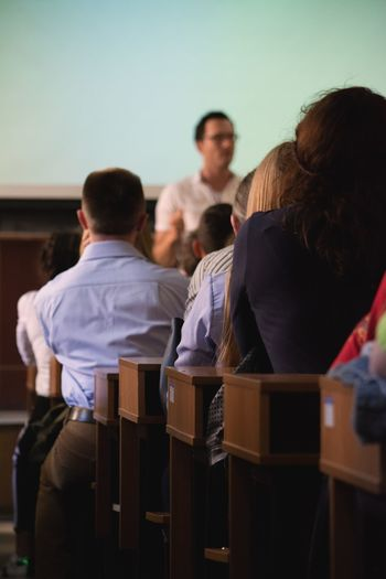Studying University Real People Men Teachers Education Indoors  Sitting Rear View Classroom Group Of People Learning Standing University Student Student Teamwork Day Lecture Hall Seminar Focus On Foreground Education First ! Education For Everyone Standing Interesting Ukraine