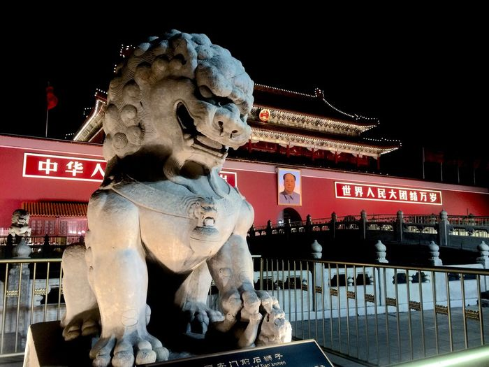 Text Tourism Architecture Travel Night Travel Destinations Cultures Statue City Animal Outdoors Sculpture Building Exterior No People Lion - Feline Chinese Dragon Exploring Style Fresh On Eyeem  Neighborhood Map