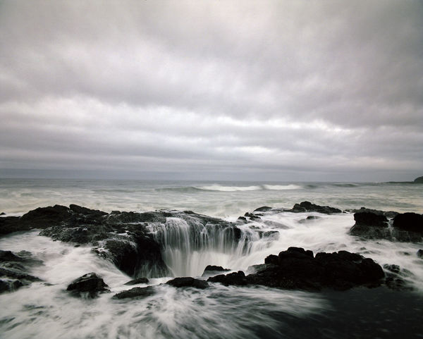 Beauty In Nature Cape Perpetua Cloud - Sky Day Force Horizon Over Water Motion Natural Beauty Nature No People Oregon Coast Oregon Explored Outdoors Power In Nature Scenery Scenics Sea Sky Thors Well Travel Destinations Travel Oregon  Travel Photography Water Wave The Great Outdoors - 2017 EyeEm Awards