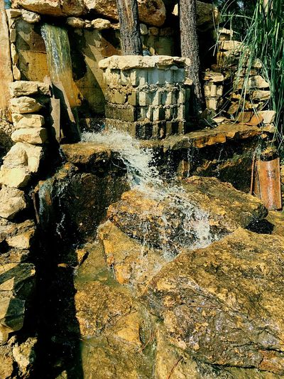 Nature Stream Waterfall Full Frame Sunlight Nature Day No People Backgrounds Outdoors Shadow Textured  Close-up Wet Land Water Lifestyles Creativity Stone Footpath Design Pattern