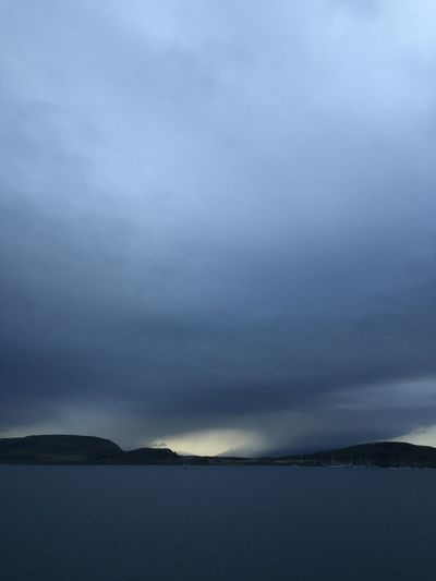 There's a storm a coming, ferry back from Isle of Mull, Scotland Cloud - Sky Sky Water Weather Nature Tranquility Scenics Beauty In Nature Tranquil Scene Outdoors No People Waterfront Lake Day Storm Cloud West coast of Scotland