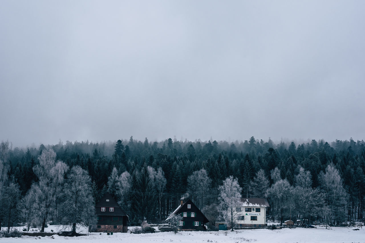 winter, snow, cold temperature, weather, tree, nature, beauty in nature, tranquility, outdoors, built structure, day, building exterior, no people, scenics, field, architecture, sky, frozen, growth