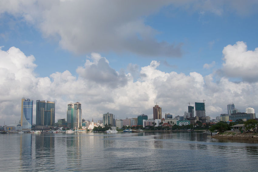Dar Es Salaam Tanzania Skyscapes Cloud - Sky Architecture Urban Skyline Cityscape Skyscraper Business Finance And Industry Building Exterior Modern City Water Reflections Travel Destinations Eye For Photography EyeEmBestPics The Week On EyeEm EyeEm Best Shots No People