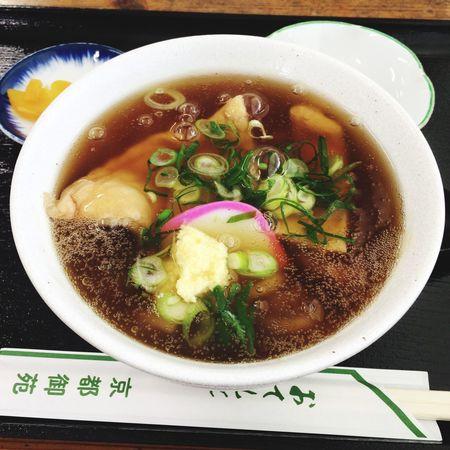 きつねの餡かけでたぬきうどん Udon Noodles Lunch Foodporn