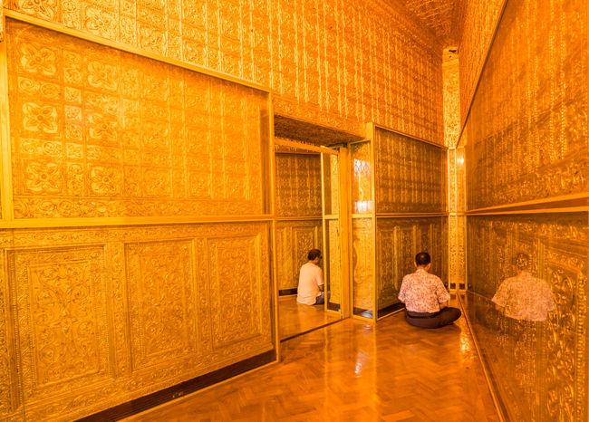 Interior of Botataung Pagoda, Yangon Myanmar Botahtaung Pagoda Buddha Famous Golden Temple Yangon, Myanmar Architecture Botataung Pagoda Buddhist Temple Famous Landmarks Famous Place Golden Pagoda Indoors  Interior Make Merit Myanmar Myanmar Culture Myanmarphotos Pilgrimage Religion Religion And Beliefs Religious  Religious Architecture Temple Myanmar