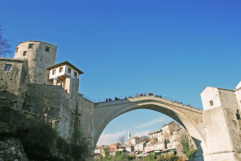 Mimar Sinan Muslim Islam Turkey Bosnia And Herzegovina Bosnia Mostar Mostar Bridge Ottoman Empire Architecture Built Structure Arch History Blue Day Low Angle View Clear Sky Sky Bridge - Man Made Structure Outdoors Building Exterior