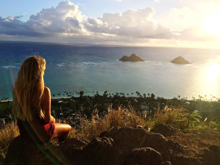 Sunshine is fine :)🌴 % Hike Lanikai  PILLBOX Island Islandlife View