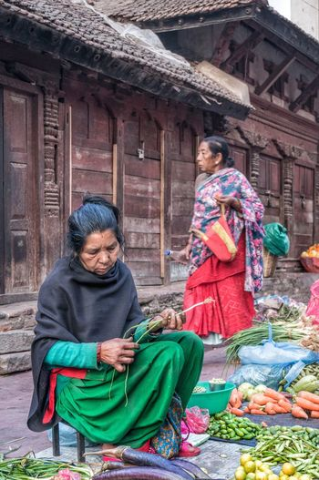 The Street Photographer - 2016 EyeEm Awards Woman Women People Nepal Nepali  Nepalese Kathmandu Street Streetphotography Market Vegetables Fruit Outdoors