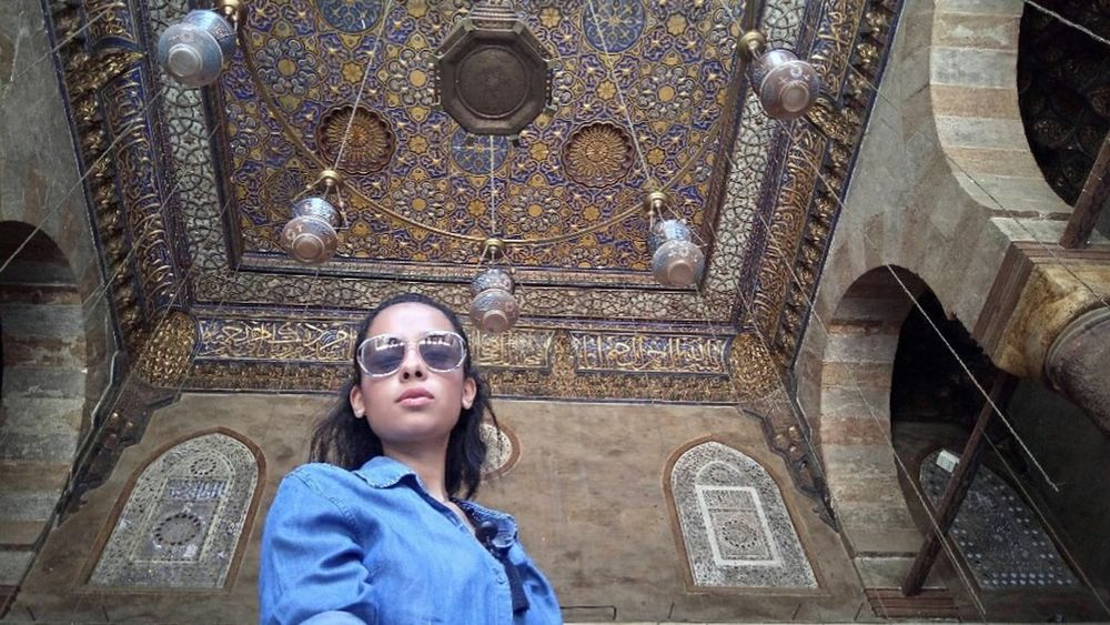 Selfıe Mobile Photography Girl Modeling Model One Person One Woman Only Only Women One Girl Only Outdoors Historic Building Selfie Stick Egypt No Edit/no Filter Glasses Architecture Mosque Architecture Mosque Photography Mosque