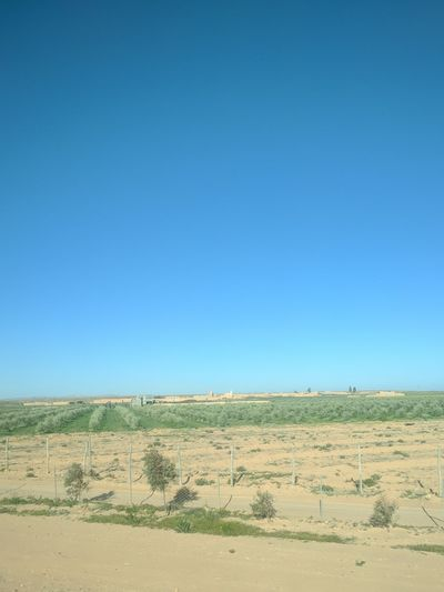 Clear Sky Blue Sand Sand Dune Sky Landscape Desert Arid Climate Semi-arid Farmland Irrigation Equipment