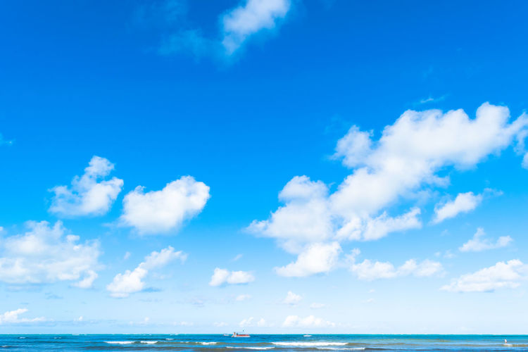 Clouds over the sea in Maragogi Brazil Sea Cloud - Sky Blue Water Sky Outdoors Travel Landscape Alagoas Travel Destinations Scenics Summer Day Beach Horizon Over Water Beauty In Nature No People Nature Maragogi Beach