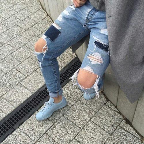 Ripped Jeans Adidas Raf Simons Model Aesthetics Fashion Street Fashion Urban Fashion Urbanstyle Fashion Photography