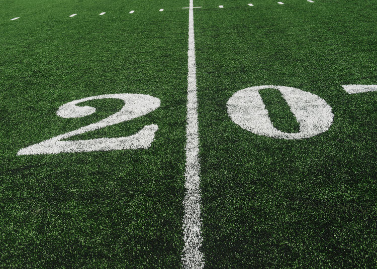 Number on playing field