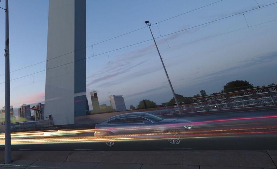 Rotterdam Rotterdam Brücke Auto Langzeitbelichtung✔