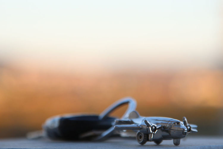 Close-up Keychain No People Plane Selective Focus Single Object Transportation Vehicle