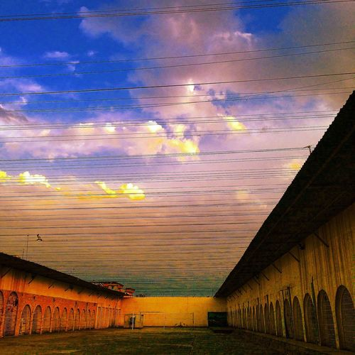 Detention Detention Center Corrections Lines Lines And Shadows Courtyard  Prison Freedom Dusk Adapted To The City
