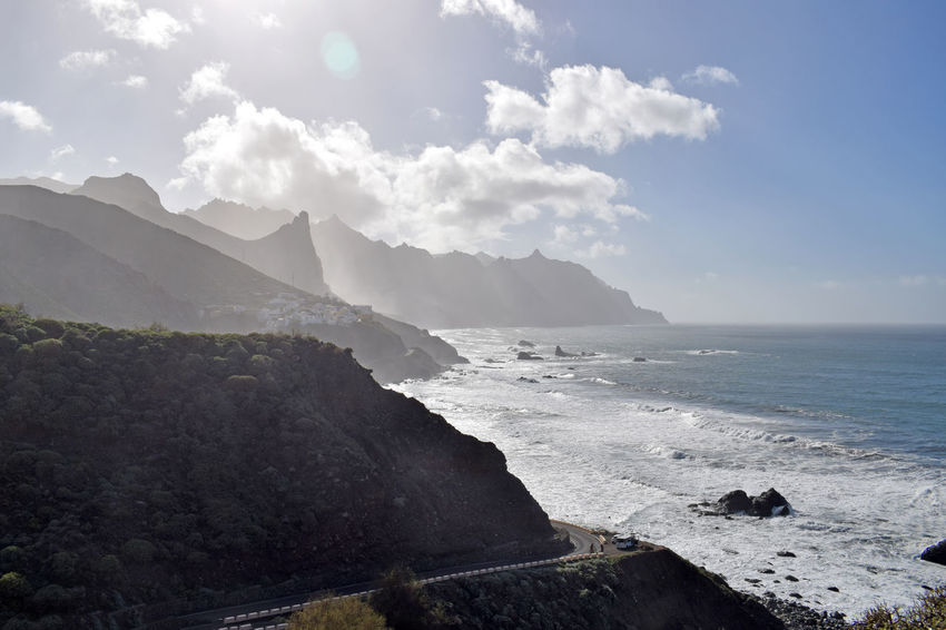 On the beach of Taganana in the northeast of the island of Tenerife -Am Strand von Taganana im Nordosten der Insel Teneriffa, Canary Islands Coastline Sea Sky Taganana Tenerife Tenerife Island Teneriffa