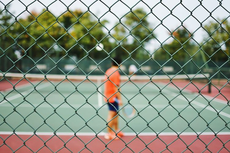 Chainlink Fence Fence Protection Close-up Focus On Foreground No People Outdoors Sport Day Togetherness Sports Team Sky Match - Sport Fresh On Market 2016