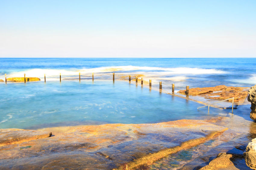 Slow down capture of the Mahon Rock Pool, with smooth waves and water. Swimming Beach Beauty In Nature Clear Sky Day Horizon Over Water Mahon Pool Nature No People Outdoors Pool Rock Pools Sand Scenics Sea Sky Swimming Pool Tranquil Scene Tranquility Travel Destinations Water Wave