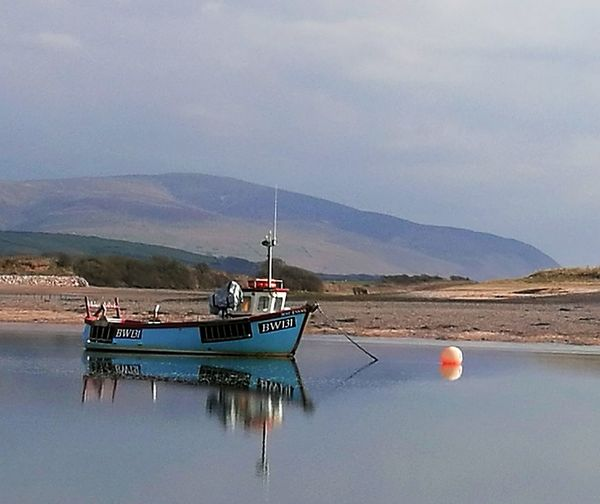 Ravenglass Northwest Lakedistrict Nautical Vessel Water Oil Pump Mountain Fisherman Agriculture Lake Buoy Reflection Rural Scene