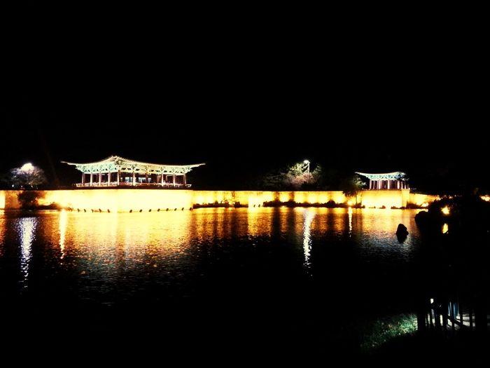 동궁과 월지. 예전 안압지 Ancient City Palace Night Lights
