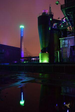 Architecture Arts Culture And Entertainment Building Exterior Built Structure City City Life Duisburg Glowing Illuminated Industrial Industrie Landmark Landschaftspark Duisburg-nord Landschaftspark | Duisburg | Germany Light Light Lighting Equipment Night Urban