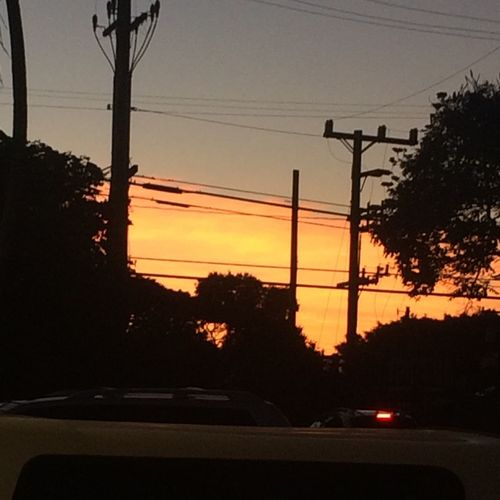 Dispite the telephone wites and all the cars still a pretty fret virw as i wait for my class to start What I Live For  Maui Hawaii Sun Set