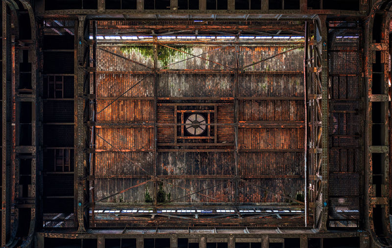 Old ceiling in abandoned factory, Belgium Architecture Abandoned Built Structure Building Indoors  Rusty Metal Damaged Deterioration No People Old Weathered Industrial Roof Ceiling History Urban Skyline Urban Geometry Urbex Symmetry Symmetrical Factory Building Pattern