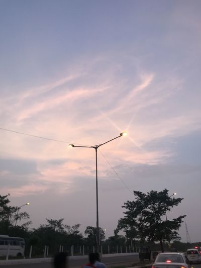 Cotton candy skies Nature Pink Sky Built Structure Cloud - Sky Cotton Candy Sky Electricity  Lamp Landscape Low Angle View Outdoors Pink Color Sky Street Sunset Tree Urban