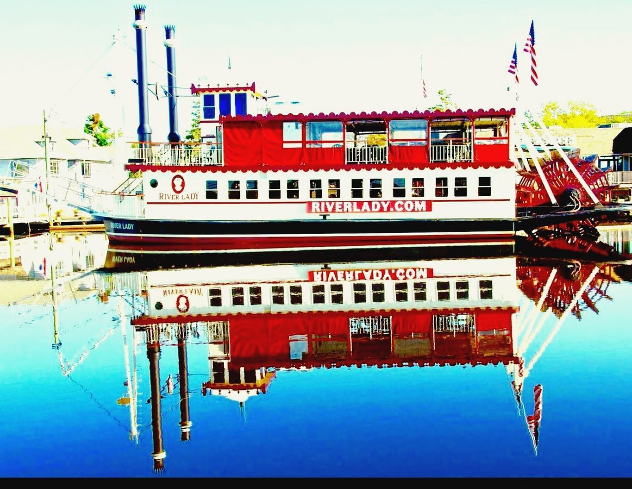 nautical vessel, transportation, water, sky, mode of transport, red, no people, waterfront, day, moored, outdoors, architecture, built structure, building exterior, nature