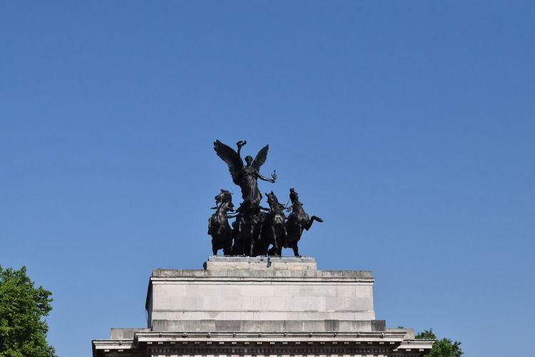 Statue Blue Sky