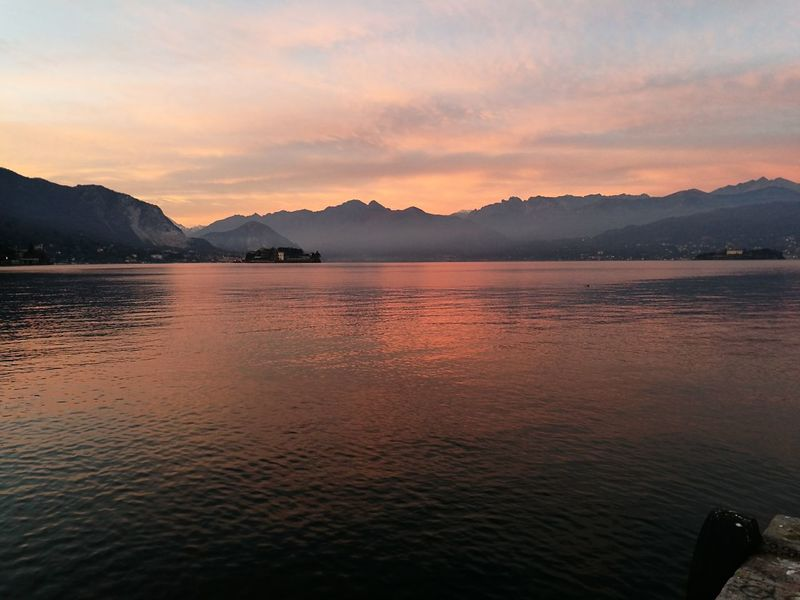 Nofilter Sunset Landscape Lake Beauty In Nature Reflection Lake Maggiore Stresa Romantic Water Pink Mountain Italy Lago Maggiore, Italy Italia Rosa Riflessi Acqua Romantico Spettacolo Spettacolodellanatura Beauty In Nature Winter Inverno Travel