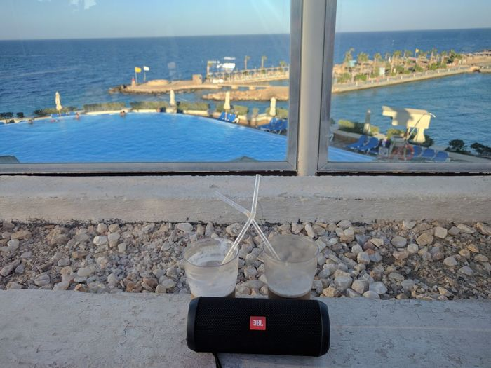 Beach Close-up Day Drinking Glass Flip 3 JBL GO Nature Outdoors Sea Sky Tech Water