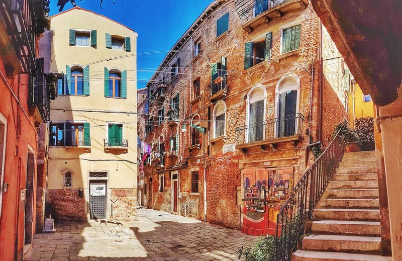 Venice streets Venice Venice, Italy Venezia Italy Veneto Old Buildings Travel Destinations Famous Place House Narrow Street Alley Architecture Window Door Architecture Building Exterior Sky Built Structure Residential Structure Residential District Residential Building Building Historic Exterior