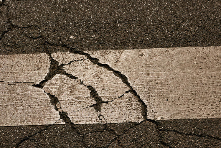 Cracked No People Backgrounds Day City Textured  Dirt Nature Close-up Damaged High Angle View Pattern Road Full Frame Outdoors Asphalt Environment Street Footpath Water Textured Effect Paving Stone Concrete Arid Climate Cement