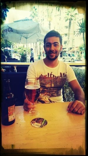That's Me Drinking Beer Amsterdam Benzin Cafe