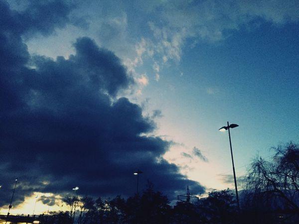 My Sky Evening Sky Silhouette Eyeem0711 Beauty In Nature Happy Weekend !!! Sunset