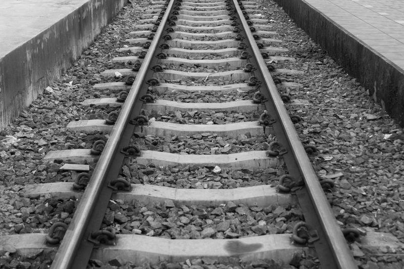 Black and white train tracks make you feel bad.