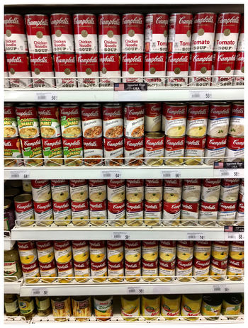 Abundance Arrangement Choice Close-up Day Food Food And Drink For Sale Freshness Indoors  Large Group Of Objects No People Retail  Shelf Supermarket Variation Warhol Inspired