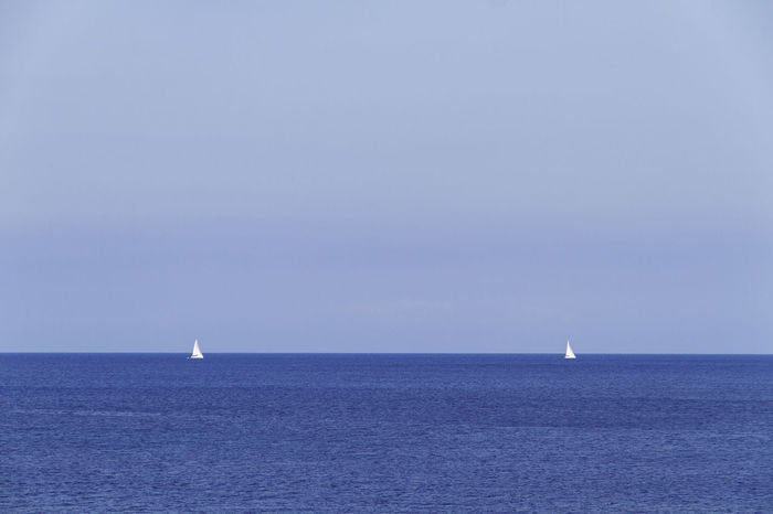 Horizontal Ibiza Lines SPAIN Beauty In Nature Blue Clear Sky Day Horizon Over Water Nature Nautical Vessel No People Nopeople Outdoors Sailboat Sailing Sails Scenics Sea Simmetry Sky Tranquil Scene Tranquility Water Waterfront An Eye For Travel