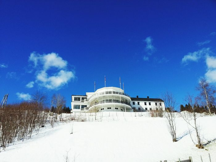 Walking on a sunday. Blue Sky Winter Wonderland Eye4photography  Buildings & Sky