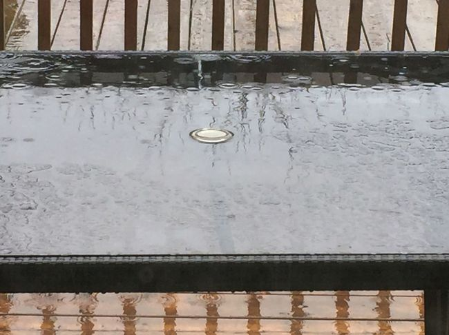 No People Outdoors Water Architecture Weather Drops Glass - Material Lines And Shapes Drops On Glass Reflection Dropping Wood - Material Comparaison