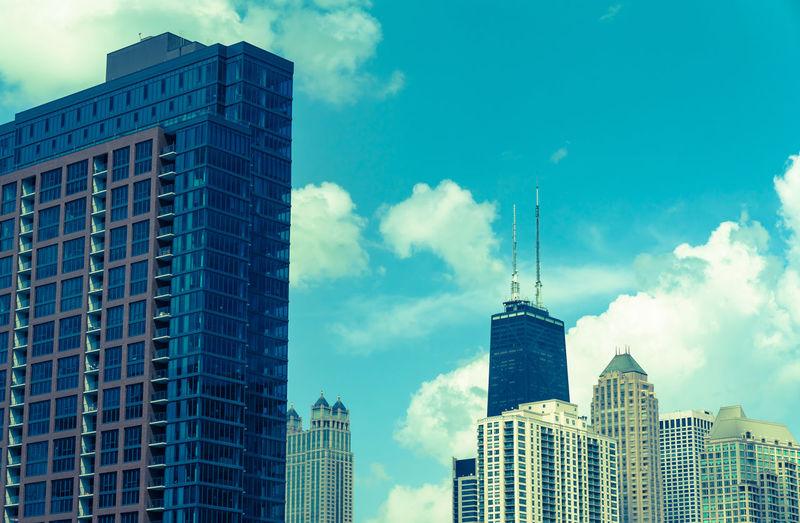 Hancock Architecture Building City Cloud - Sky No People Sky Skyscraper Sunny Day Tower