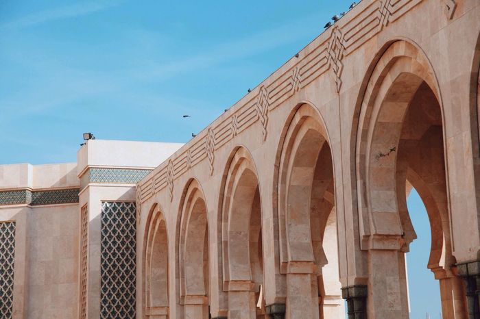 Casablanca Morocco Open Edit Arch Architecture Islamic Architecture Islamic Islamic Art Art Africa Building Pattern Stone Repetition Sky Blue Sky Blue Islamic Geometry