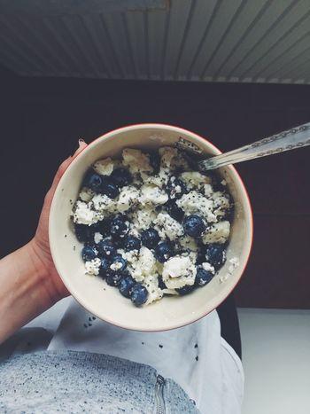 Food Breafast Yum Blueberries Chiaseeds